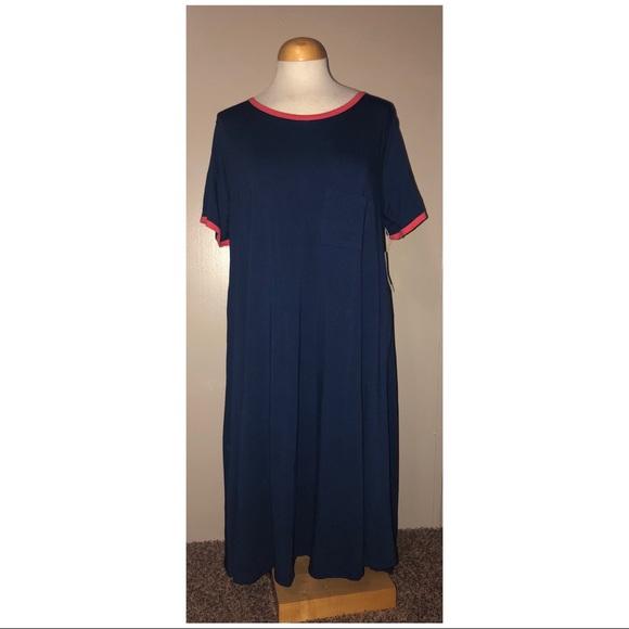 LuLaRoe Dresses & Skirts - XL Lularoe Navy blue Carly